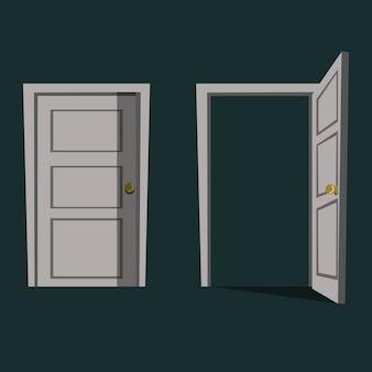 Ilustração vetorial de porta