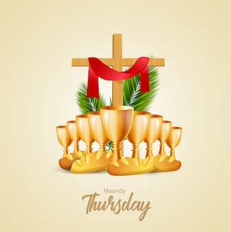 Ilustração vetorial de quinta-feira santa