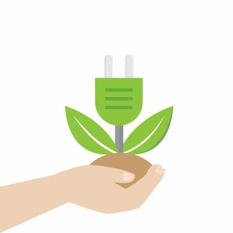 Ilustração vetorial de reciclagem de energia