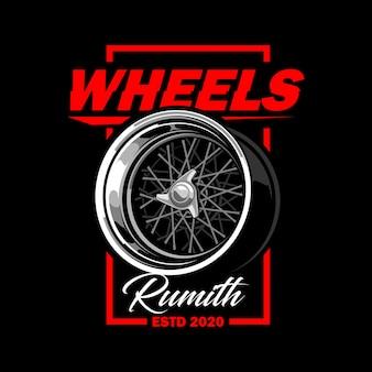 Ilustração vetorial de rodas