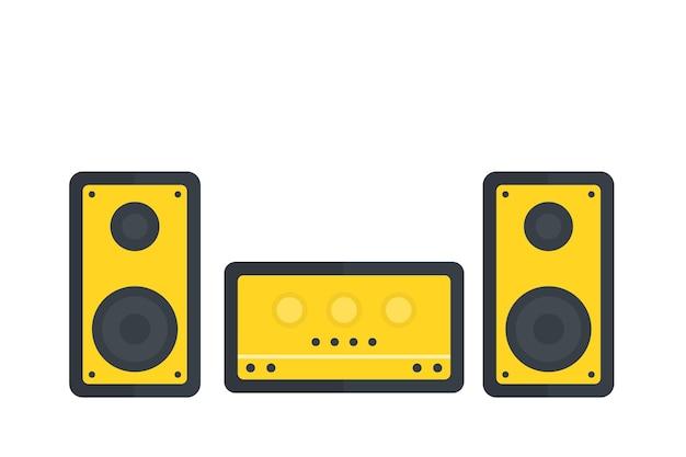 Ilustração vetorial de sistema de áudio