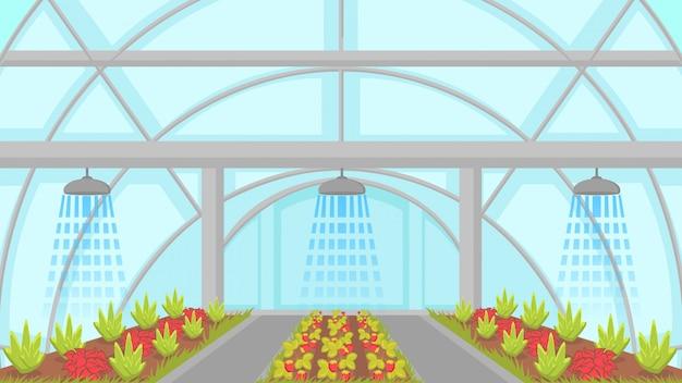 Ilustração vetorial de sistema de irrigação agrícola