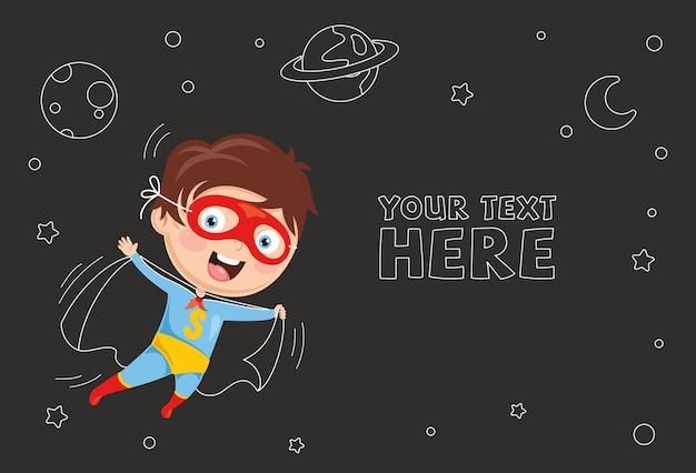 Ilustração vetorial de super herói