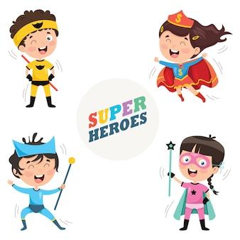 Ilustração vetorial de super-heróis