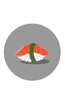 Ilustração vetorial de sushi de salmão
