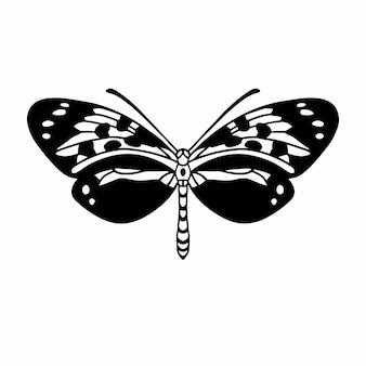 Ilustração vetorial de tatuagem de símbolo de logotipo de borboleta