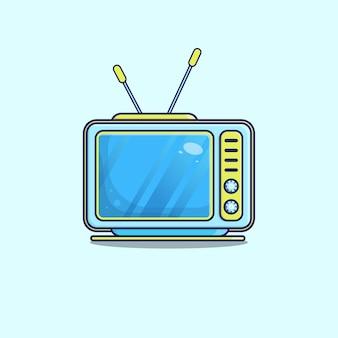 Ilustração vetorial de televisão com estilo cartoon