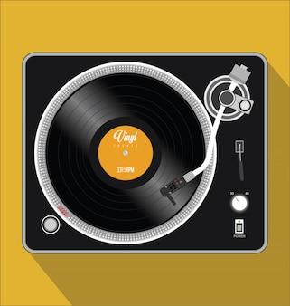 Ilustração vetorial de toca-discos