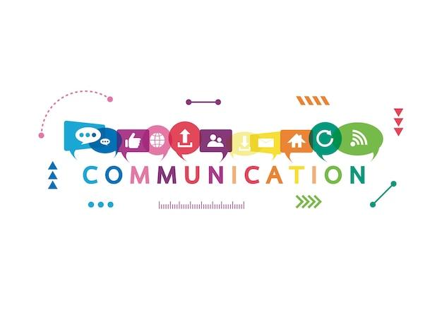 Ilustração vetorial de um conceito de comunicação