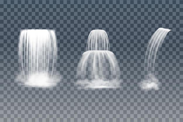 Ilustração vetorial de uma cachoeira