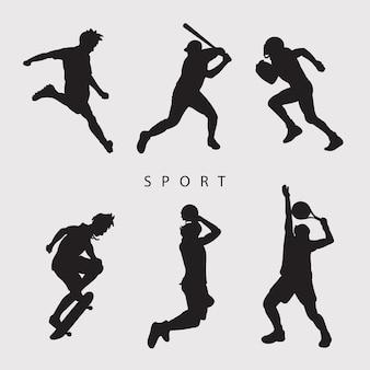 Ilustração vetorial de vários esportes
