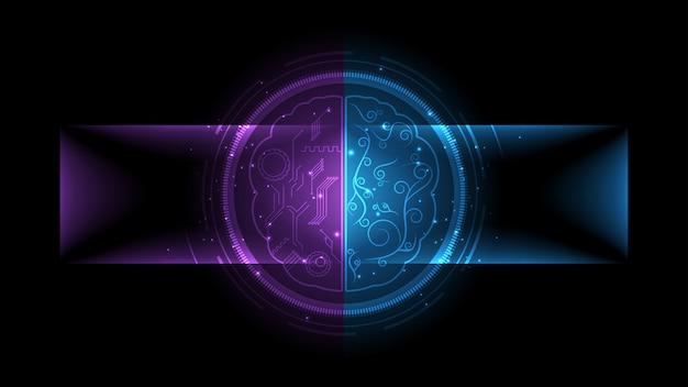 Ilustração vetorial digital de inteligência artificial