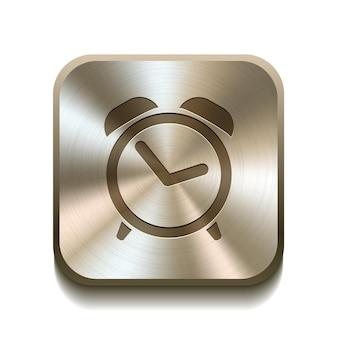 Ilustração vetorial do botão do ícone do despertador