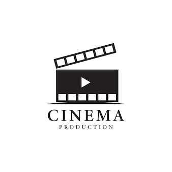 Ilustração vetorial do logotipo conceitual simples da tira de filme