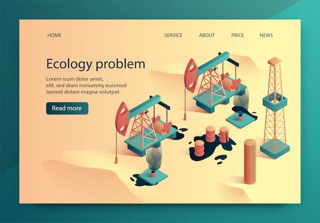 Ilustração vetorial é escrita problema de ecologia.