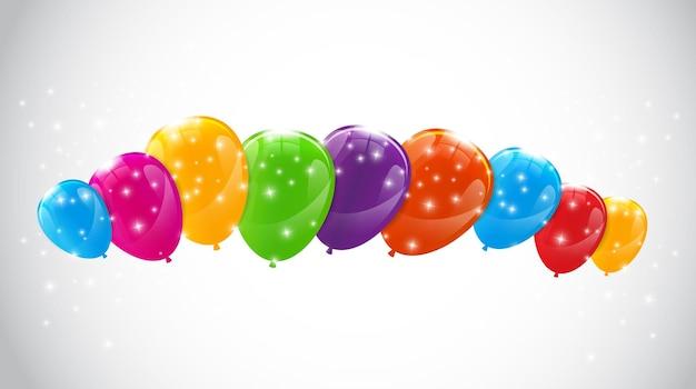 Ilustração vetorial eps10 de fundo de balões coloridos