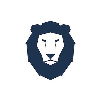 Ilustração vetorial geométrica de leão
