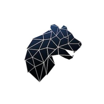 Ilustração vetorial geométrica de pantera