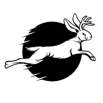 Ilustração vetorial jackalope