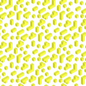 Ilustração vetorial jogando padrão de seamles de tijolo