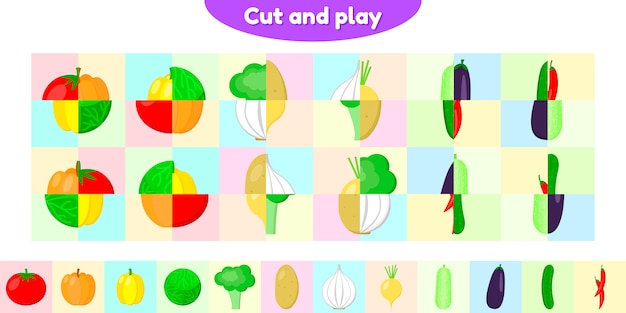 Ilustração vetorial jogo educativo para crianças em idade pré-escolar e escolar.