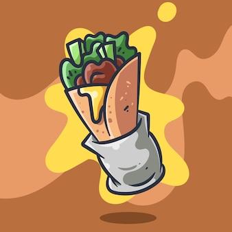 Ilustração vetorial kebab