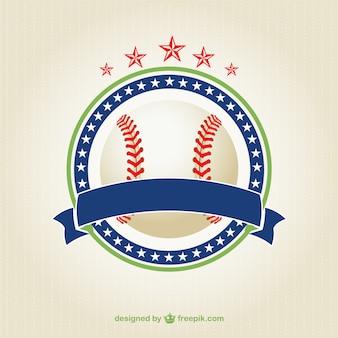 Ilustração vetorial livre bola de beisebol