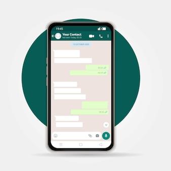 Ilustração vetorial moderna de telefone móvel em fundo branco