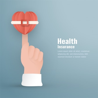 Ilustração vetorial no conceito de seguro de saúde