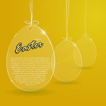 Ilustração vetorial. ovo de vidro da páscoa
