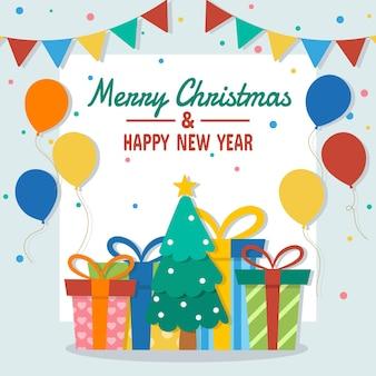 Ilustração vetorial para a celebração do conceito de feliz natal e feliz ano novo. vetor eps 10.