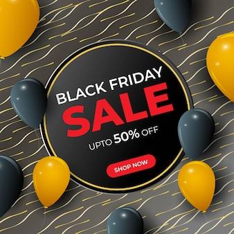 Ilustração vetorial para black friday sale