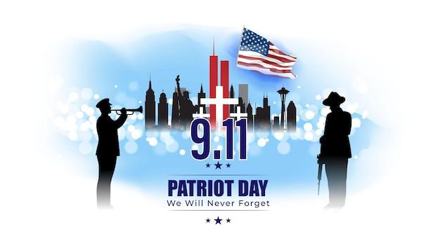 Ilustração vetorial para o dia do patriota dos estados unidos