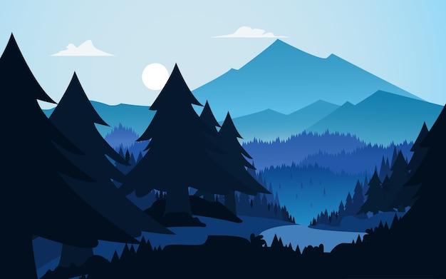 Ilustração vetorial: plano de fundo da paisagem