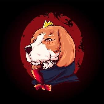 Ilustração vetorial premium de vampiro de cachorro, perfeita para camisetas
