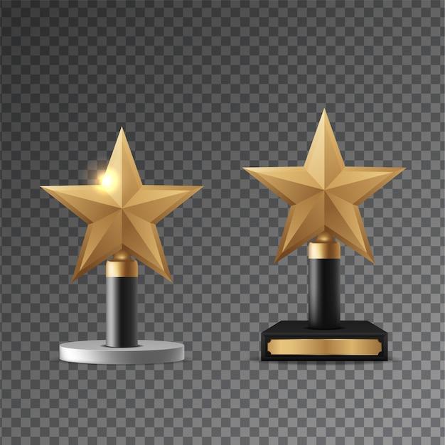 Ilustração vetorial realista de prêmio de ouro