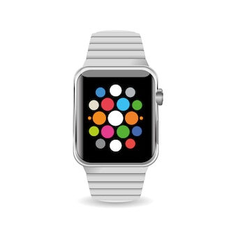 Ilustração vetorial relógio inteligente isolado no fundo branco