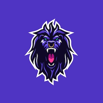 Ilustração vetorial selvagem de leão