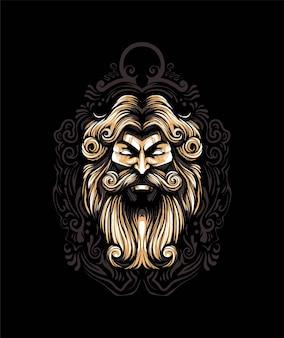 Ilustração vetorial zeus premium, em estilo cartoon moderno, perfeita para camisetas ou produtos impressos