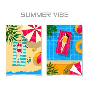 Ilustração vibe de verão