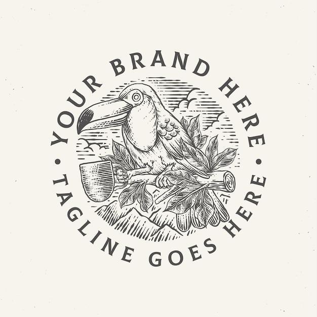 Ilustração vintage de café tucano