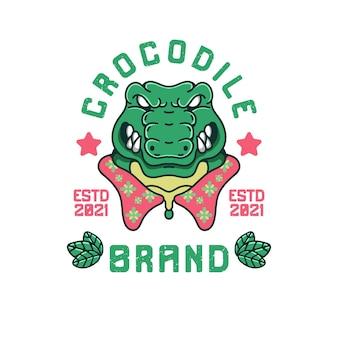 Ilustração vintage de crocodilo