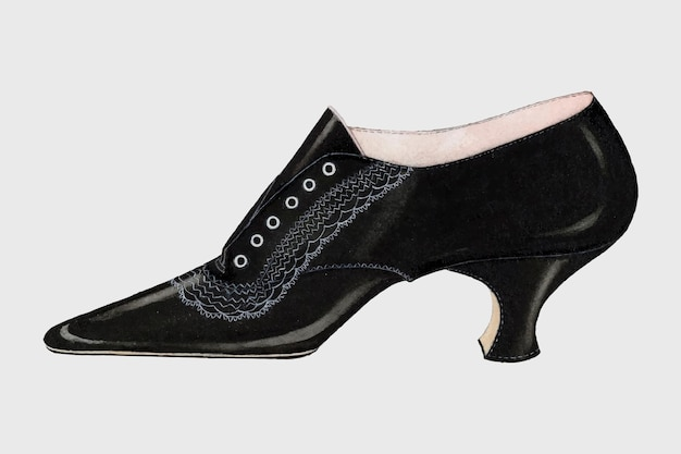 Ilustração vintage em vetor sapato feminino, remixada da arte de carl schutz.