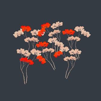 Ilustração vintage japonesa de sakura, remixada de obras de arte de domínio público