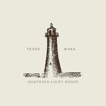Ilustração vintage light house