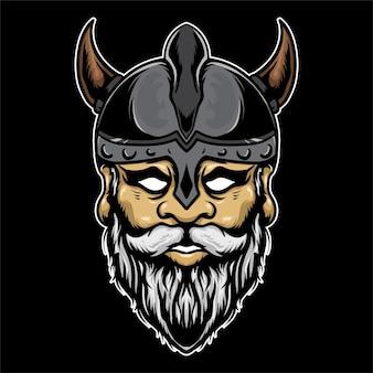 Ilustração vintage viking colorida
