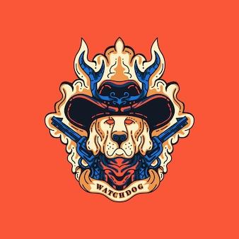Ilustração watchdog sheriff
