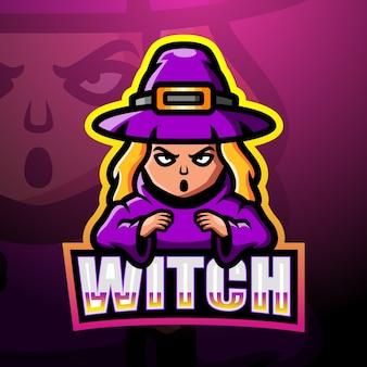 Ilustração witch mascot esport