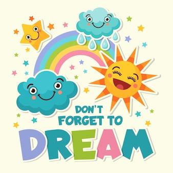 Ilustrações com fotos engraçadas de desenhos animados