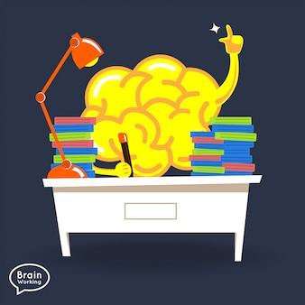 Ilustrações conceito cérebro fitness